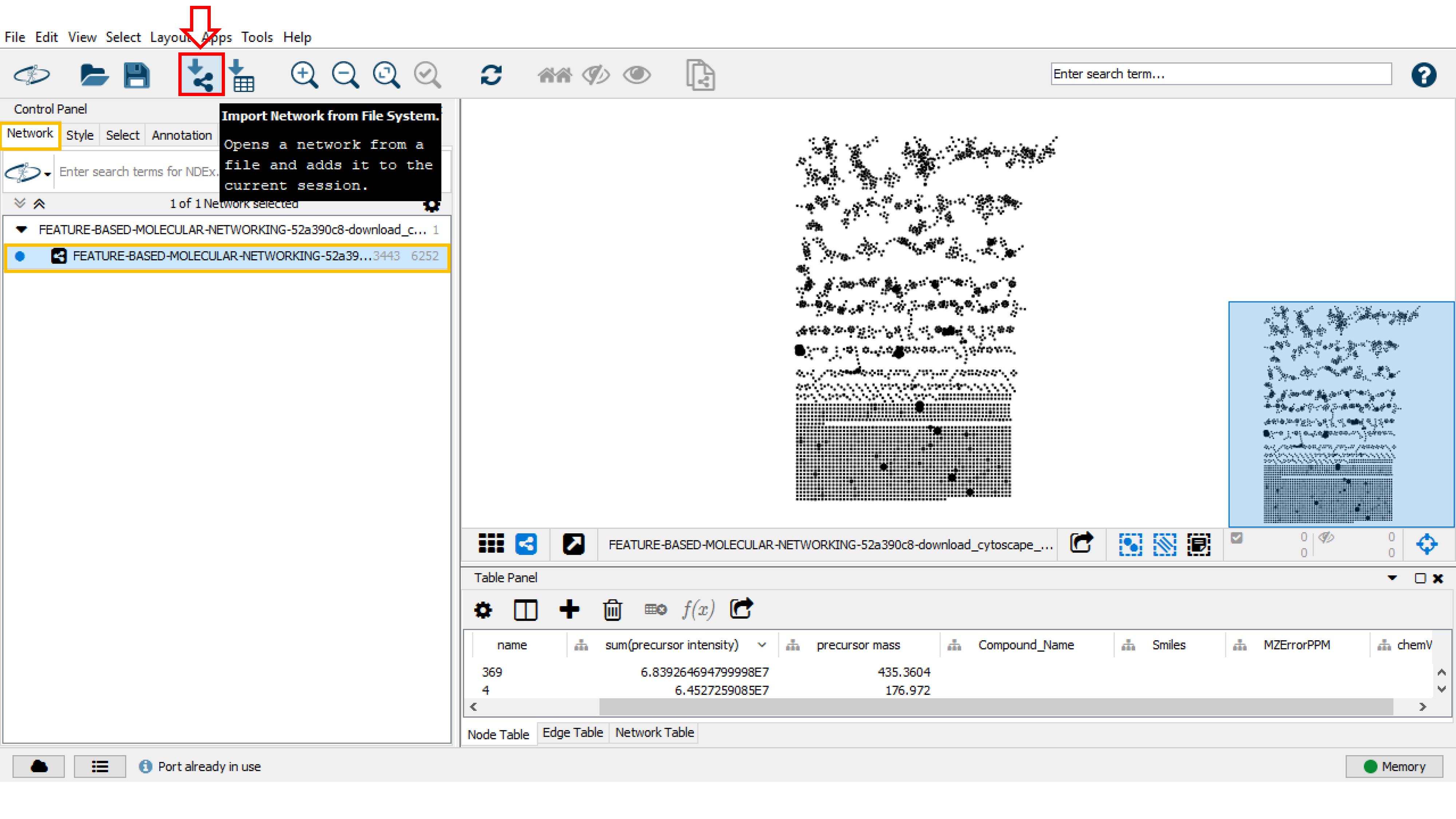 FBMW with Cytoscape - GNPS Documentation
